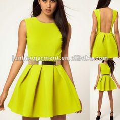 Vestidos De Moda 2013 | ... redondo y mangas de última moda vestido de verano para mujeres 2013