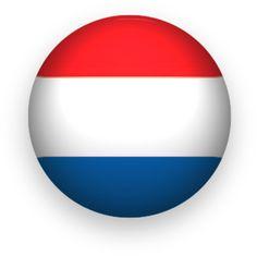 Nederland flag clipart round