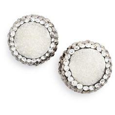 Panacea 'Drusy Lux' Stud Earrings (12 KWD) ❤ liked on Polyvore featuring jewelry, earrings, blue, blue jewelry, blue druzy earrings, stud earring set, blue stud earrings and druzy jewelry
