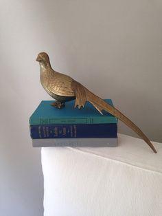 Brass Pheasant Statue by MayaVintage on Etsy
