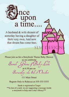 Storybook Baby Shower Invitation for Boy or Girl Once Upon a