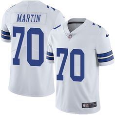 Nike Cowboys #70 Zack Martin White Men's Stitched NFL Vapor Untouchable Limited Jersey