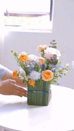 Diy Flower Arrangements, Flower Arrangement Designs, Beautiful Flower Arrangements, Flower Decorations, Beautiful Flowers, Wedding Decorations, Flower Bouquet Diy, Flower Vases, Deco Floral