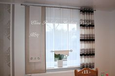 Nähen No Sew Curtains, Curtains With Blinds, Shades Blinds, Window Treatments, Divider, Windows, Room, Bedding, House