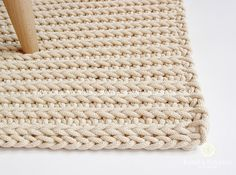 Ecri, cotton cord, rectangular rug, crochet rug, crochet carpet, knitted carpet, knitted rug, home & decor, furniture, floor decoration,