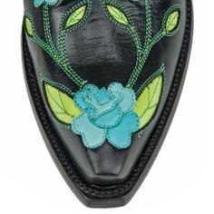 O'Susanna Black/Turquoise - Cowboy Boots - Back at the Ranch