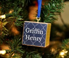 Personalized Block Ornament