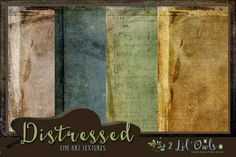 Distressed fine art textures by 2 Lil Owls Studio on Creative Market