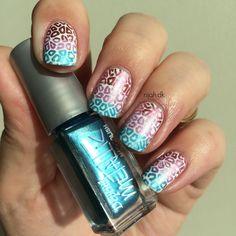 Depend Metallic Leo Gradient #nailart #stamp #nailpolish #neglelak #metallic #depend #leonails #gradient