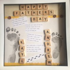 I was searching online for some craft ideas so I could make a unique and homemade gift for my husband for Father's Day. Through my search I came across some really cute ideas! Scrabble Tile Crafts, Scrabble Frame, Scrabble Art, Present For Husband, Gifts For Dad, Fathers Day Crafts, Happy Fathers Day, Daddy Day, Thoughtful Gifts
