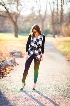 checkered sweater