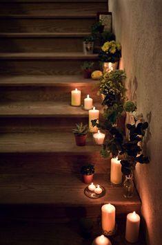 christmas , noel , bougies escaliers