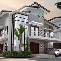 the perfect house 4 Bedroom House Designs, Bungalow House Design, House Front Design, Modern House Design, House Plans Mansion, Family House Plans, 2 Storey House Design, Beautiful House Plans, Model House Plan