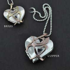 fearless rune lockets in brass or copper