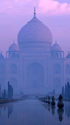 The Taj Mahal | Agra, india--Probably number 1 or 2 on my bucket list of places to visit.  I would love to see it as the sun rises too~amazingly beautiful!
