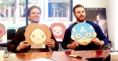 Sebastian Stan and Chris Evans at BuzzFeed Tumblr Q&A
