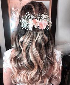 Gorgeous Wedding Hairstyles for Long Hair Wavy Wedding Hair, Long Hair Wedding Styles, Wedding Hairstyles For Long Hair, Bride Hairstyles, Prom Hair, Bridal Hair, Brunette Hairstyles, Hairstyle Ideas, Black Hair Bun