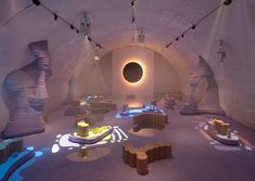 """""""Tides"""" is an ethereal exhibition that brings underwater exploration to Milan Design Week, created by Kwangho Lee x Wang & Söderström. Uncommon Grounds, Interior Architecture, Interior Design, Interactive Installation, Installation Art, Milan Design, Our Solar System, Retro Futurism, Elle Decor"""