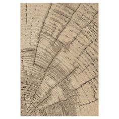 Rug with realistic tree ring detail.   Product: RugConstruction Material: PolypropyleneColor: Bei...