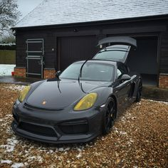 Cold. Cleaning the GT4...