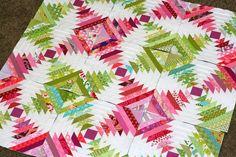 A Little Bit Biased: Pineapple Quilt Progress & Patterns