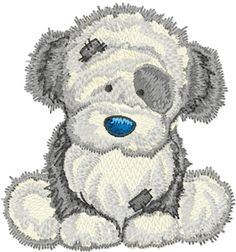 Fluffy machine embroidery design