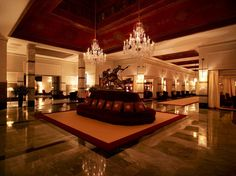 Perhaps it's the mix of French, Arabic, and English spoken in hushed tones, or the soaring coffered ceilings, or just the colonial richness that makes the bar at La Mamounia one of the sexiest drinking spots in the world. –P. G.
