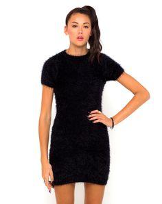 Buy Motel Begonia Knit Mini Dress in Black at Motel Rocks