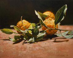 """Alena Savchenko """"Orangini"""" Canvas, oil. 40x50 cm. 2013."""