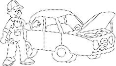 Mécanicien Automobile, Push Pin Art, Embroidery Cards, Paper People, Indoor Activities For Kids, Art Template, Stitch 2, Punch Art, Stitch Patterns