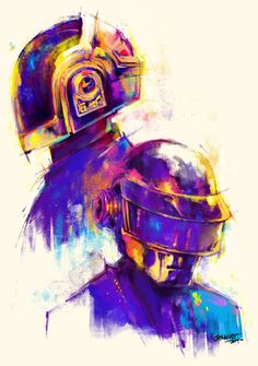 Daft Punk digital painting practice by Carbine