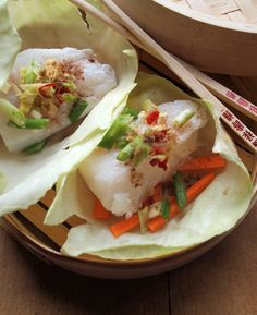 Getting Ready for Chinese New Year: Steamed Asian Fish Parcels Recipe for 5:2 Diet Fast Day