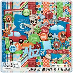 Digital Scrapbook - Summer Adventures: Gotta Getaway Kit| Bella Gypsy