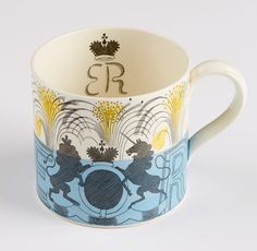 Eric Ravilious 'Edward VIII Coronation Mug', 1936, earthenware. From the collection of Hampshire Cultural Trust. To be included in Angie Lewin's exhibition 'A Printmaker's Journey' https://www.aprintmakersjourney.info