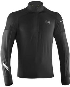 $76 Camiseta de hombre Storm Run Under Armour - ajuste regular - detalles reflectantes - cremallera 1/4 - inserción pulgares