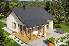 Projekat. Kuća Elmo V ENERGO 76.81 m²   KucaSnova.com