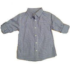 ce7c7d9fb Boys Blue Check Plaid Dress Shirt from Deux par Deux - Canada at Pumpkinheads  Los Angeles