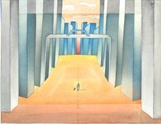ean-Michel Folon – Le pays des sosies – aquarelle Folon Man