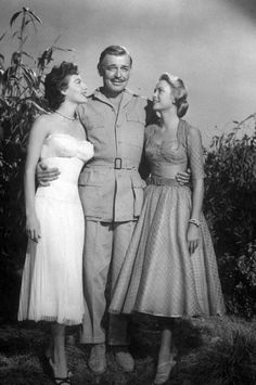 Ava Gardner, Clark Gable and Grace Kelly in Mogambo