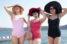 Fabulous fifties-inspired cossies from Sirens Swimwear