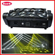 led spider beam moving head light 8PCS RGBW 4 in 1 (Only white )10W LED beam bar light ①16/41channels ②Beam angle:3 degree welcome to http://www.wavestage.net