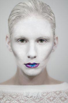 Photographer: Nay Marie Makeup: Yana Lusher (Makeup by Yaya) White Makeup, Love Makeup, Makeup Looks, Hair Makeup, White Eyelashes, Conceptual Photography, Brows, Facial, Make Up