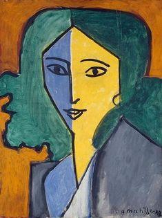 Henri Matisse,Lydia Delectorskaya,Huile sur toile 64.5 x 49.5 cm 1947,Musée de l'Ermitage, Saint-Petersbourg, Russie