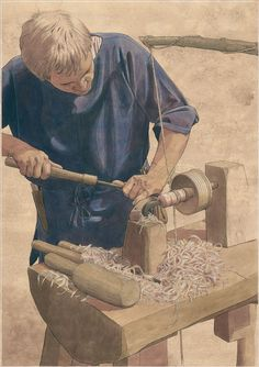 A Slavic wood turner in the Early Middle Ages by Flemming Bau