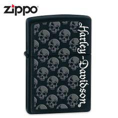 Zippo Harley Davidson - Skulls on Black