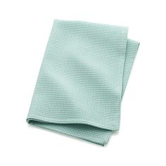 Textural waffle weave makes this beautiful aqua blue dishtowel even more absorbent than flat-weave cotton. Cotton dishtowel will become softer and more absorbent with every wash cycle.
