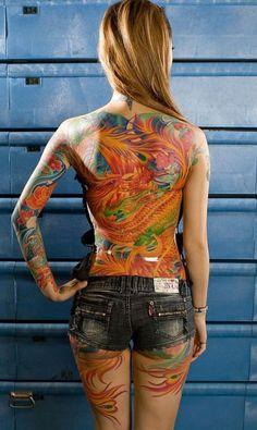 48 Japanese Phoenix Tattoo