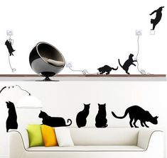 Cat Wall Decals!