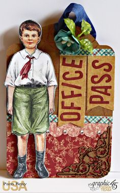 2017 G45 Brand Ambassadors- 2017 Pam Bray -Penny's Paper Dolls Desk Organizer with tutorial. Product by Graphic 45!