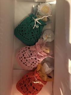 Piccoli sacchettini uncinetto per Pasqua